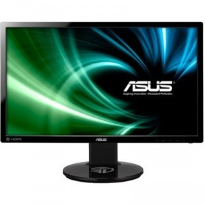 Monitor LED 3D ASUS 24 inch (~61 cm), Wide, Full HD, DVI, HDMI, Boxe, Negru, VG248QE