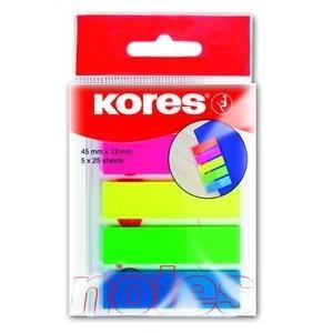 INDEX PLASTIC 12*45MM 5 CULORI*25 FILE KORES