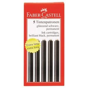CARTUSE CERNEALA MARI NEGRE 5 BUC/CUTIE FABER-CASTELL