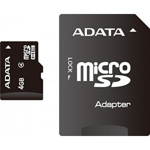 MICRO SD A-DATA SDHC 4GB CLASS 4 + ADAPTOR SD