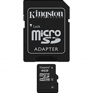 MICRO SD KINGSTON 32GB SDHC CLASS 4 + ADAPTOR SD