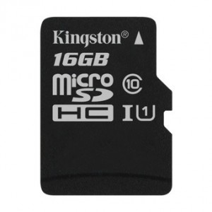 MICRO SD KINGSTON 16GB CLASA 10 SDC10G2/16GB + ADAPTOR SD