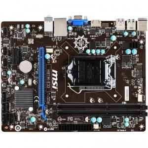 PLACA DE BAZA MSI SOCKET LGA1150 H61M-E33 INTEL H81 2*DDR3