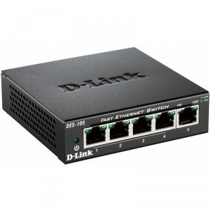 SWITCH D-LINK DES-105 DESKTOP 5 PORTURI 10/100 - METAL HOUSING