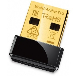 ADAPTOR USB TP-LINK ARCHER T1U NANO WIRELESS AC450 433MBPS USB2.0