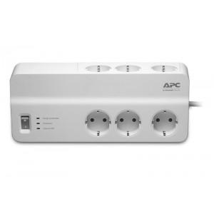 Prelungitor APC cu protectie 6 prize Schuko cablu ?2.0m alb