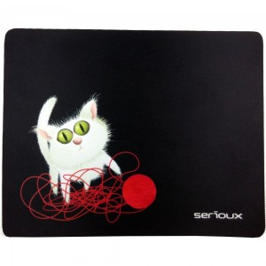 Mouse pad Serioux, model Cat and ball of yarn, MSP01