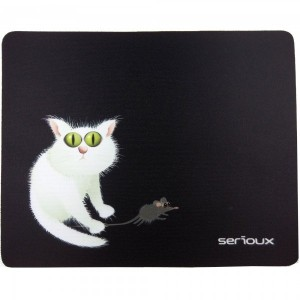 Mouse pad Serioux, model Cat and mice, MSP02