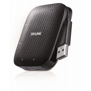 Hub USB TP-Link, UH400, 4 porturi, USB 3.0, negru