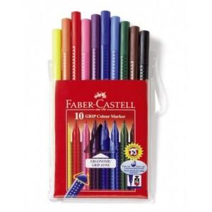 CARIOCI 10 CULORI GRIP FABER-CASTELL