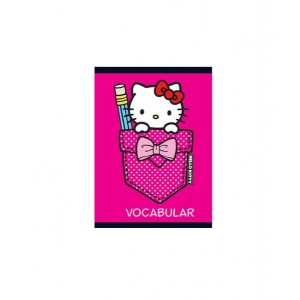 Caiet Capsat 12x17cm 24 Vocabular Hello Kitty
