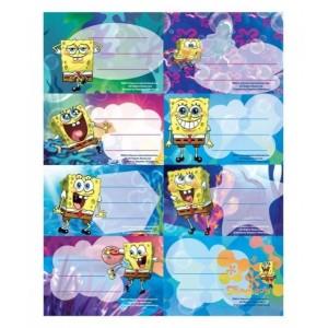 Etichete scolare 40/set Sponge Bob