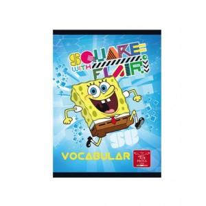 Caiet Capsat 12x17cm 24 Vocabular Sponge Bob
