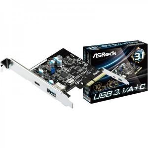 ASRock 1x PCI-E Male - 1x USB 3.1 Tip A Female + 1x USB 3.1 Tip C Female
