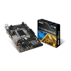 Placa de baza MSI H110M PRO-VD PLUS  H110  DualDDR4-2133  SATA3  USB 3.1  DVI  D-Sub  mATX