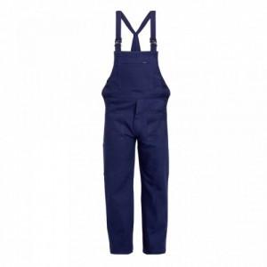Imbracaminte de Protectie de Vara: Pantalon cu pieptar BBC 100%, bleumarin TED