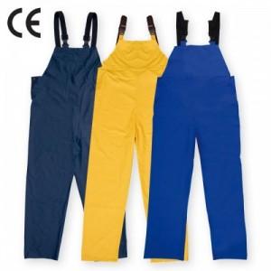 Imbracaminte de Protectie Impermeabila: Pantalon de ploaie, din PU cu pieptar, ROSTOCK (-B, -G, -AE)