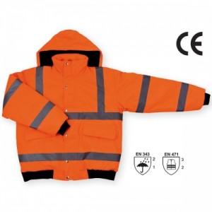 Imbracaminte de Protectie Reflectorizanta: Jacheta pilot impermeabila de iarna reflectorizanta (portocalie) OSLO