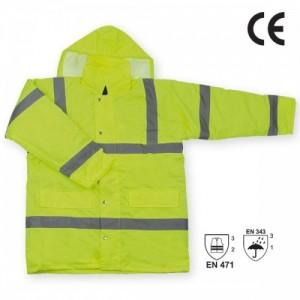 Imbracaminte de Protectie Reflectorizanta: Scurta impermeabila de iarna reflectorizanta (galbena) BRISTOL