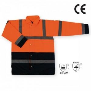Imbracaminte de Protectie Reflectorizanta: Scurta impermeabila de iarna reflectorizanta (portocalie) SEFTON