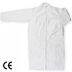 Imbracaminte de Protectie de Unica Folosinta: Halat din polipropilena alb