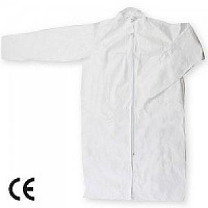 Imbracaminte de Protectie de Unica Folosinta: Halat PE alb de unica folosinta