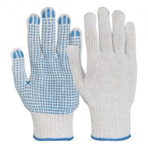 Manusi de Protectie din Textile cu aplicatii punctiforme din PVC pe o singura fata PICOU
