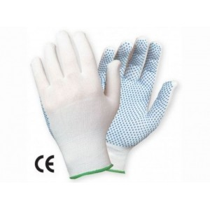 Manusi de Protectie din Textile din tricot sintetic cu aplicatii punctiforme PVC GRANET