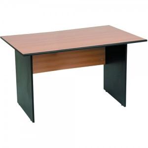Birou standard 140 x 80 x 75 cm stejar cu negru mat