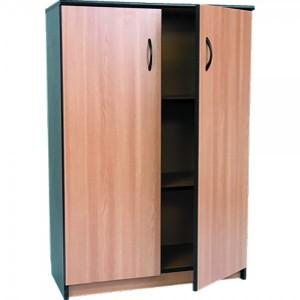Dulap mediu cu 2 polite si 2 usi 80 x 36 x 115 cm stejar cu negru mat