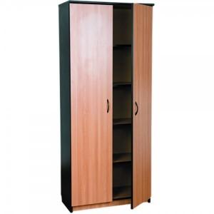 Dulap inalt cu 2 usi si 4 polite 80 x 36 x 185 cm stejar cu negru mat