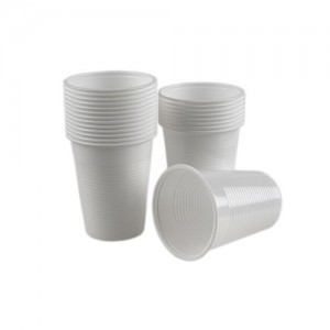 Pahare plastic transparent 300ml, 50/set