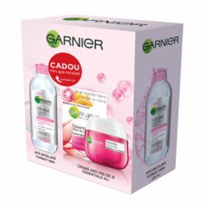 Trusa Garnier: Crema de fata anti-age Essentials 45+, 50ml + Apa Micelara, 125 ml