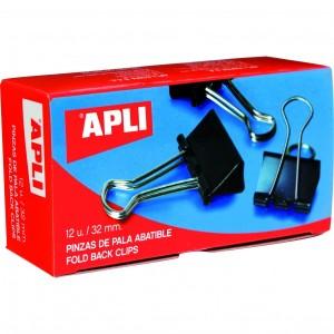 Clipsuri metalice Apli 25 mm negru 12 bucati/cutie