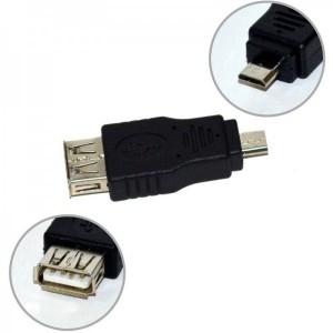Vakoss 1x USB 2.0 Female - 1x microUSB 2.0 Male, negru