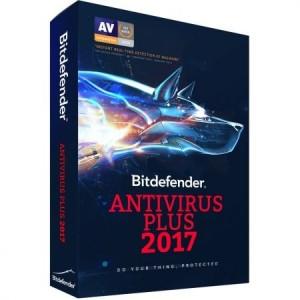 Bitdefender Antivirus Plus 2017, 2 ani, 1 utilizator, licenta noua