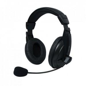 Set MSONIC casti microfon stereo Negru