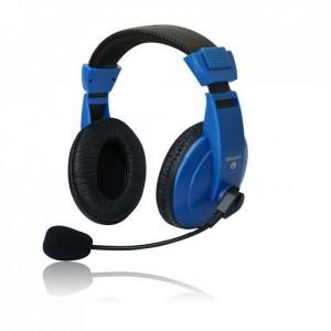 Set MSONIC casti microfon stereo Albastru