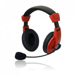 Set MSONIC casti microfon stereo Rosu