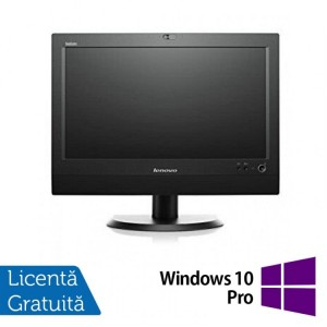 All In One Refurbished LENOVO M72z 20 inch 1600x900 Intel Core i3-3220 3.30GHz 4GB DDR3 250GB SATA DVD-RW + Windows 10 Pro