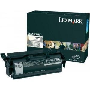 Consumabil Original X651H31E: Lexmark X-651 Toner Ctg Black Corp 25k