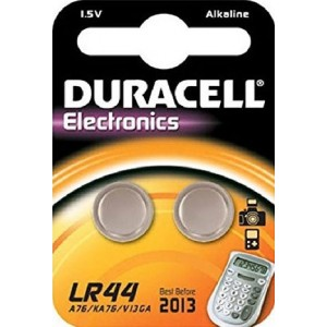 Batterie LR44 DURACELL Knopfzelle2er - 504424