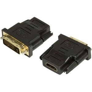 Logilink 1x DVI-D Male - 1x HDMI Female, negru - AH0001