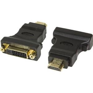 Logilink 1x DVI-D Female - 1x HDMI Male, negru - AH0002