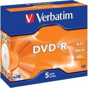 VERBATIM DVD-R 16x silver 5-JC - 43519