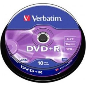 VERBATIM DVD + R 16x silver 10er-SP - 43498