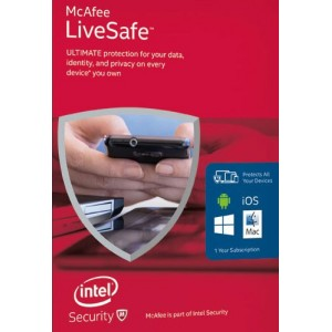 McAfee LiveSafe Antivirus - MLS16GRC1RAA