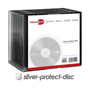 PRIMEON CD-R 52x silver 10er-SC - 2761100