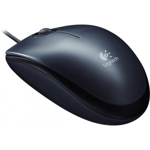LOGITECH M100 Mouse USB black - 910-005003